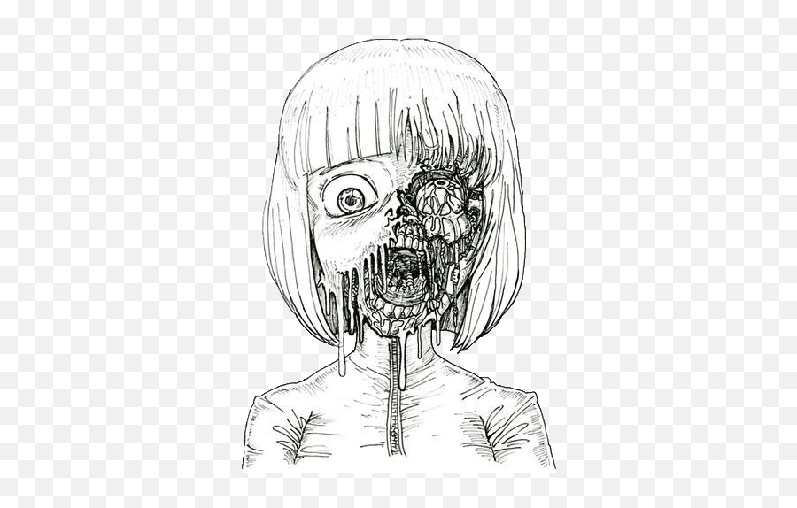 Girl Scary Anime Drawings Png Free Transparent Png Images Pngaaa Com
