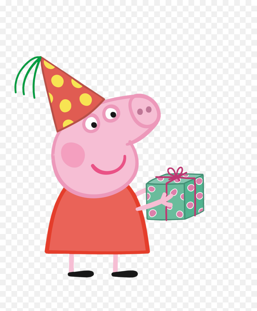 Pink Party Hat Png - Peppa Pig With Party Hat