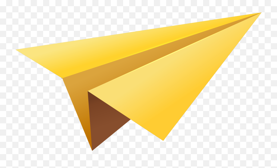 Paper Plane Png Image With Transparent Background Arts Yellow