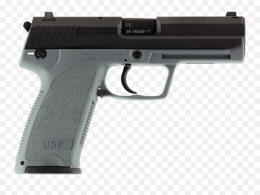 Hk 704501gylela Usp45 V1 Ca Compliant Singledouble 45 - Taurus 9mm Pt 809 Png,Pistol Transparent Background