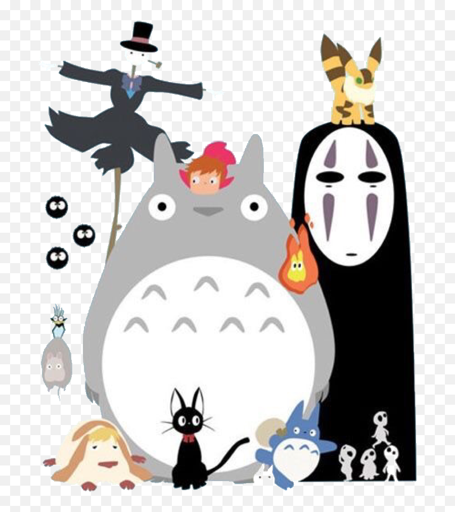 Spiritedaway Totoro Totorolove Noface Animation Simple Totoro Spirited Away No Face Png Free Transparent Png Images Pngaaa Com