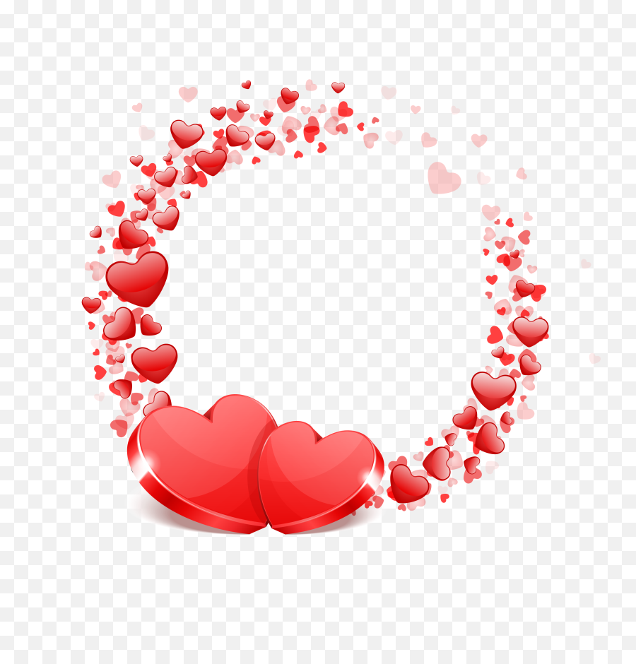 Download Free Png Red Hearts Festive - Vector Love Heart Png