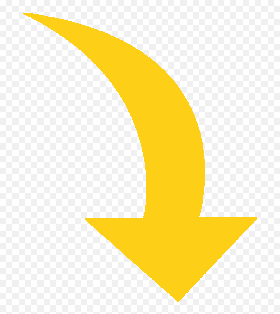 Clipart Arrows Swoosh Transparent - Yellow Curved Arrow Png