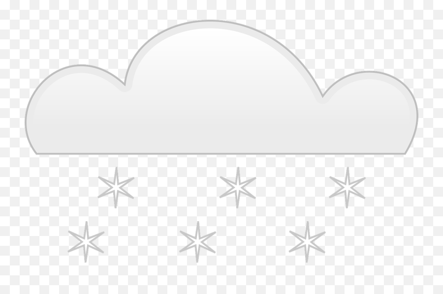 Download Snow Falling Png - Cartoon Clouds With Snow