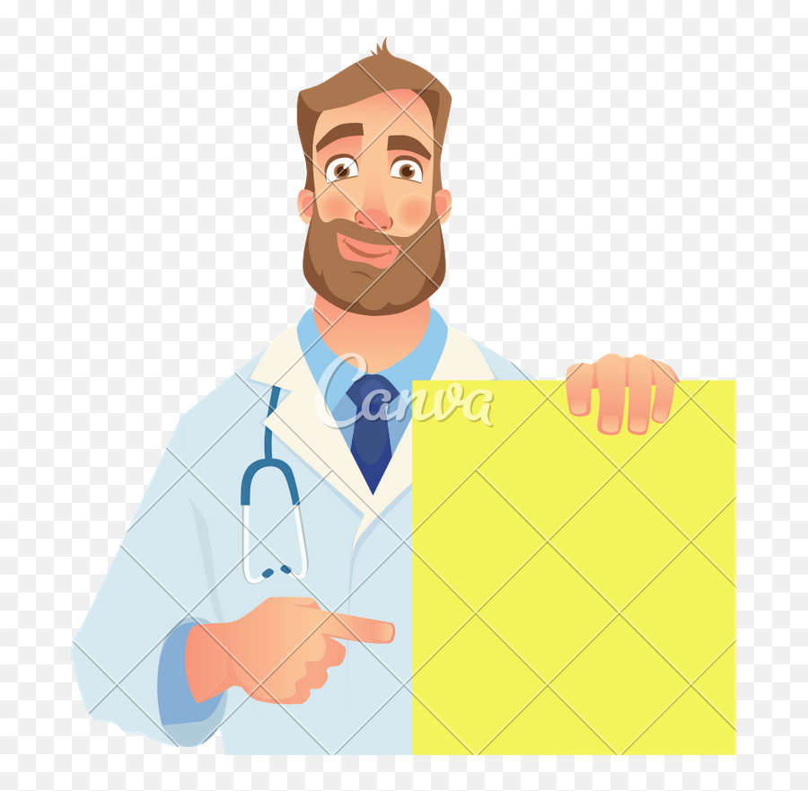 Doctor Holding Blank Banner - Icons By Canva Dibujos De Cardiologos Png,Blank Banner Png