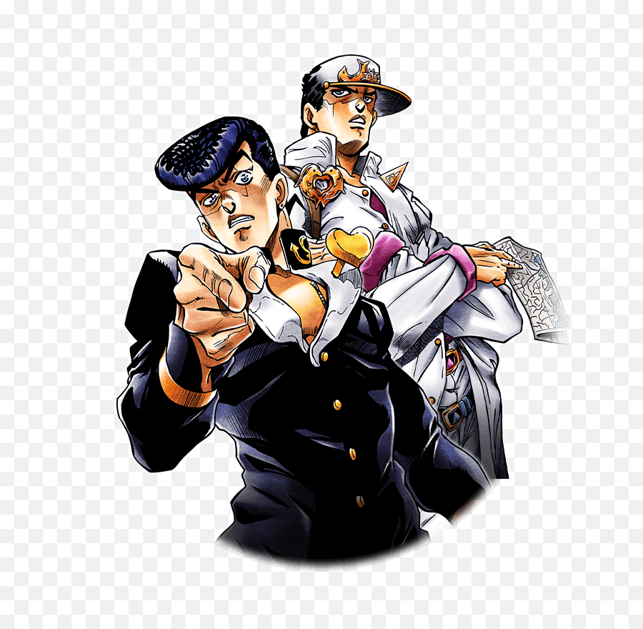 Download Hd Unit Josuke Higashikata And - Jotaro Kujo Josuke Higashikata png