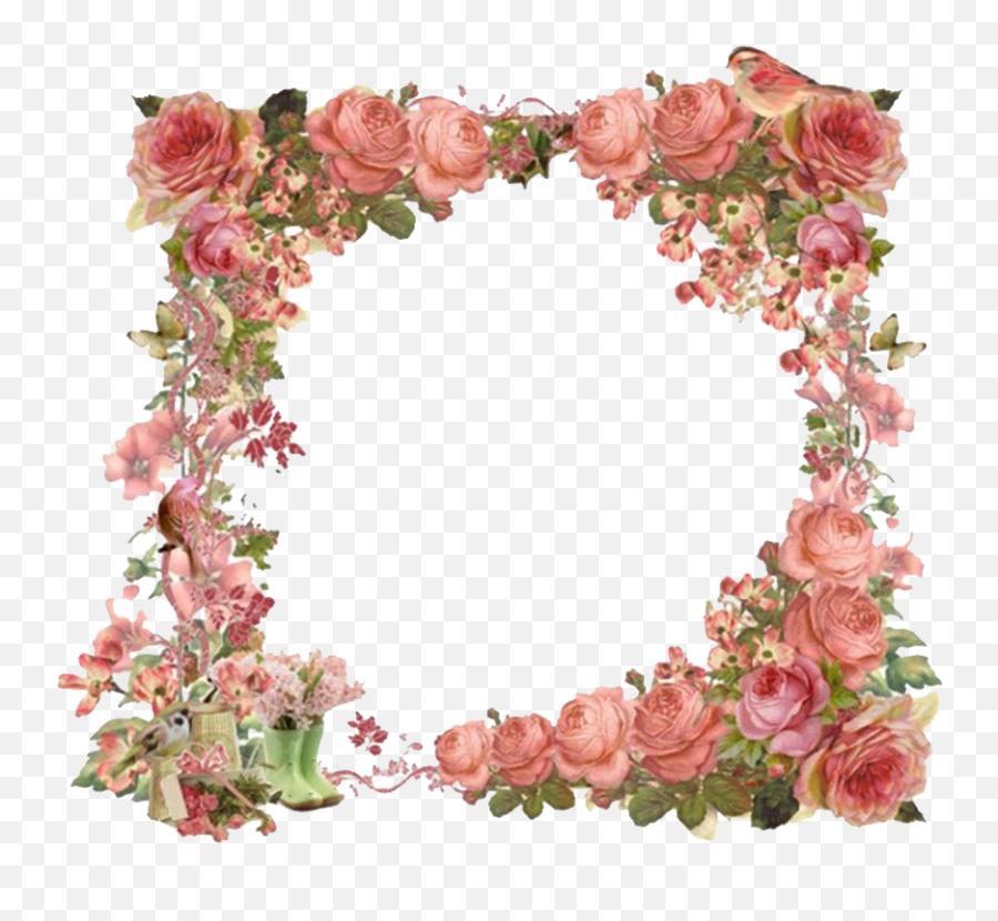 Vintage Floral Frame Png Hd Mart - Vintage Floral Frame Png,Vintage Flower Png