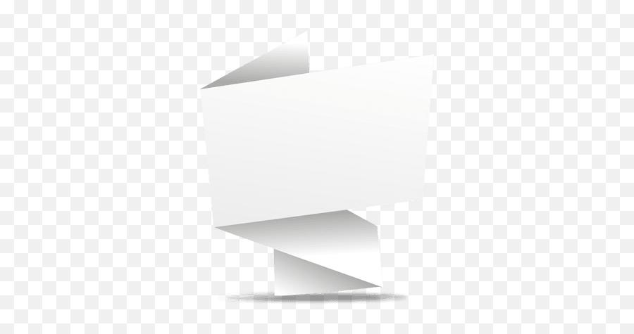 Transparent Png Svg Vector File - Origami Banner Arrow White,Vector Banner Png