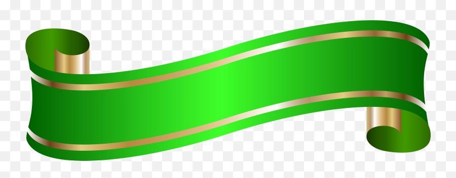 Elegant Banner Green Png Clip Artu200b Gallery Yopriceville - Green Ribbon Banner Png